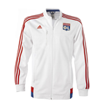 2015-2016 Lyon Adidas Anthem Jacket (White)