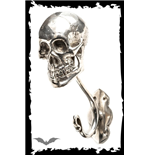 Clothes hook skull silver-colored
