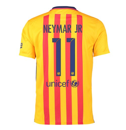 2015-16 Barcelona Away Shirt (Neymar Jr 11)
