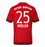 2015-16 Bayern Munich Home Shirt (Muller 25) - Kids