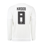 2015-16 Real Madrid Long Sleeve Home Shirt (Kroos 8) - Kids