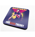 The Big Bang Theory Coaster Bazinga Purple 6-Pack