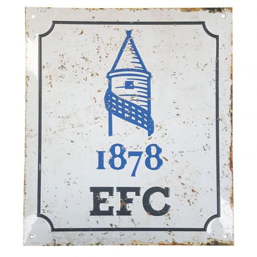 Everton F.C. Retro Logo Sign