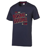 2015-2016 Arsenal Puma Graphic Fan Tee (Navy)