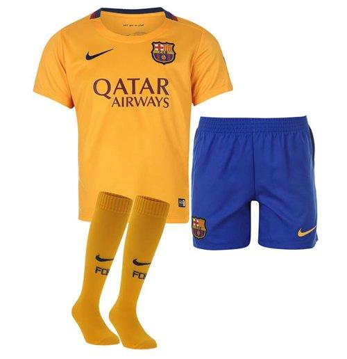 meet f0abb d60cf 2015-2016 Barcelona Away Nike Little Boys Mini Kit