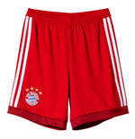 2015-2016 Bayern Munich Adidas Away Goalkeeper Shorts (Red) - Kids