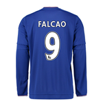 2015-2016 Chelsea Home Long Sleeve Shirt (Falcao 9)