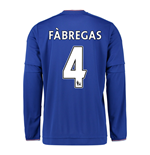2015-2016 Chelsea Home Long Sleeve Shirt (Fabregas 4)