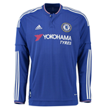 2015-2016 Chelsea Adidas Home Long Sleeve Shirt