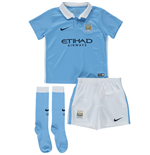 2015-2016 Man City Home Nike Little Boys Mini Kit