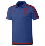 2015-2016 Man Utd Adidas Training Polo Shirt (Blue)