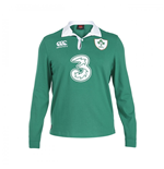 2015-2016 Ireland Home Classic LS Rugby Shirt