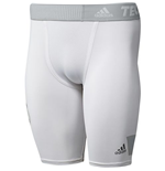 2015-2016 Real Madrid Adidas Techfit Shorts (White)