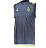 2015-2016 Real Madrid Adidas Sleeveless Shirt (Grey)