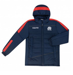2015-2016 Scotland Macron Rugby Travel Long Puffa Jacket (Navy)