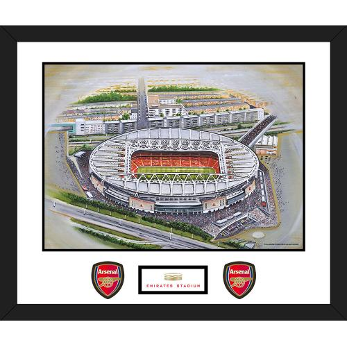 Arsenal F.C. Stadia Art Mounted Print Emirates