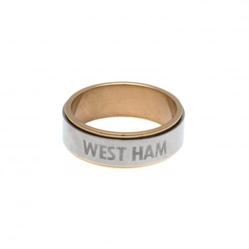 West Ham United F.C. Bi Colour Spinner Ring Small