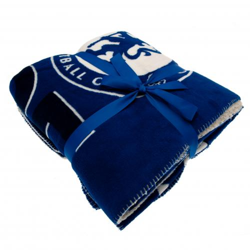 Chelsea F.C. Sherpa Fleece Blanket