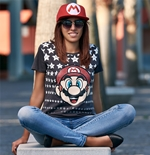 Nintendo Ladies T-Shirt Mario & Stars
