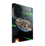 Star Wars Notebook with with Light Millenium Falcon