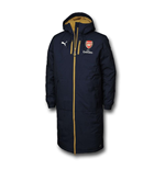 2015-2016 Arsenal Puma Long Bench Coat Jacket (Navy) - Kids