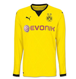 2015-2016 Borussia Dortmund European Home Long Sleeve Puma Shirt