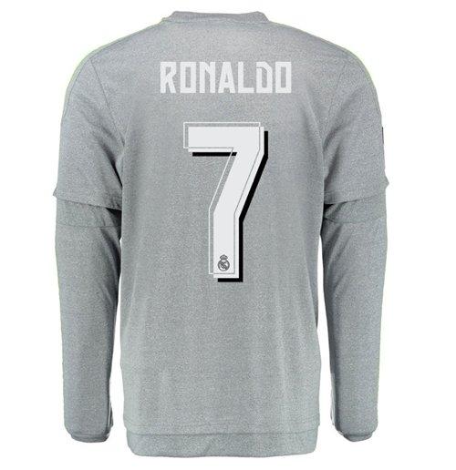 best sneakers de29f 31869 2015-2016 Real Madrid Long Sleeve Away Shirt (Ronaldo 7)