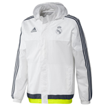 2015-2016 Real Madrid Adidas Allweather Jacket (White)