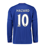 2015-2016 Chelsea Home Long Sleeve Shirt (Hazard 10) - Kids