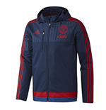 2015-2016 Man Utd Adidas Travel Jacket (Dark Blue)