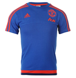 2015-2016 Man Utd Adidas Training Tee (Royal Blue) - Kids