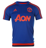 2015-2016 Man Utd Adidas Training Shirt (Royal Blue) - Kids