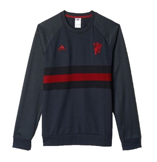 2015 2016 man utd adidas sf sweat top dark grey for only c at merchandisingplaza ca. Black Bedroom Furniture Sets. Home Design Ideas