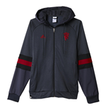 2015-2016 Man Utd Adidas SF Hooded Zip (Grey)