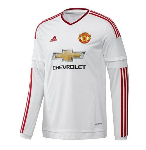 finest selection 94bcd 9d5f1 2015-2016 Man Utd Adidas Away Long Sleeve Shirt (Kids)