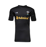 2015-2016 Wales Rugby WRU Supporters Training Shirt (Black)