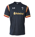 2015-2016 Wales Rugby Away WRU Supporters Shirt (Charcoal)