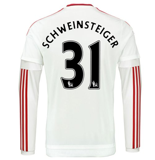 info for 3f6e8 68922 2015-2016 Man Utd Long Sleeve Away Shirt (Schweinsteiger 31)