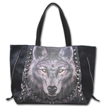 Wolf Dreams - Tote Bag - Top quality PU Leather Studded