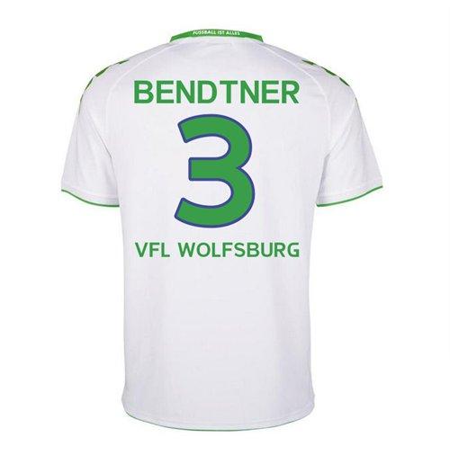 low priced cc9e0 b7e7e 2015-2016 Wolfsburg Home Shirt (Bendtner 3)