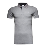 2015-2016 France Adidas Rugby Players Media Polo Shirt (Grey)
