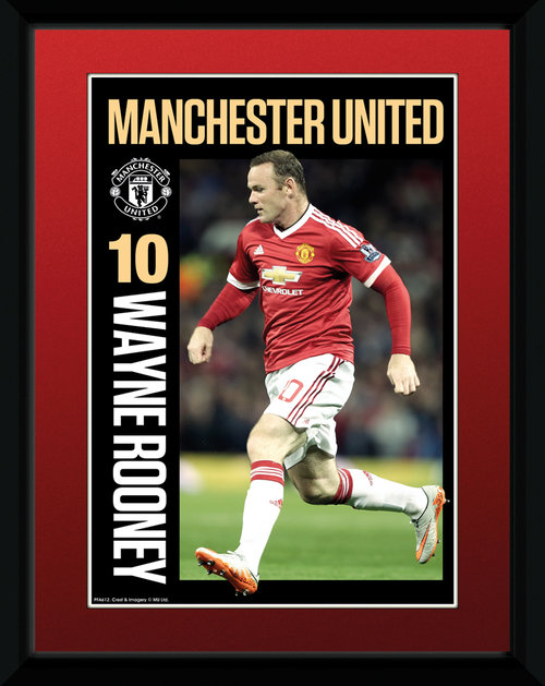 Manchester United Rooney 15/16 Framed Collector Print