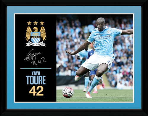 Manchester City Toure 15/16 Framed Collector Print