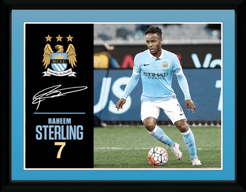 Manchester City Sterling 15/16 Framed Collector Print