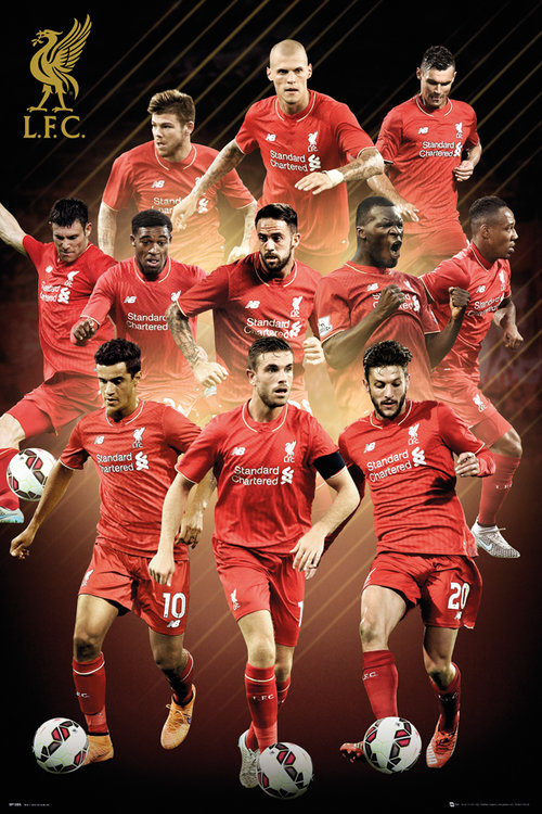 Liverpool Players 15/16 Maxi Poster