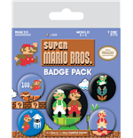 Super Mario Bros. Pin Badges 5-Pack