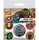 Marvel Comics Pin Badges 5-Pack Captain America