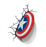 Marvel Comics 3D LED Light Captain America Shield