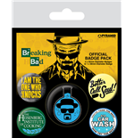Breaking Bad Pin Badges 5-Pack Heisenberg Flask