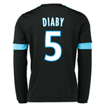 2015-2016 Marseille Long Sleeve Away Shirt (Diaby 5)